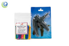 Dental Orthodontic Ligature Gun and Assorted Color Ligature Ties O-Rings 1014
