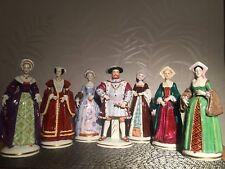 Sitzendorf Germany  Henry VIII & his six wives  porcelain figurines