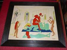 RUYTCHI SOUZOUKI Rare et superbe Huile sur bois signée EROTIQUE Atelier Peintre