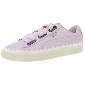 Puma Womens Basket Heart Scallop Purple Casual Shoes 10 Medium (B,M)  6232