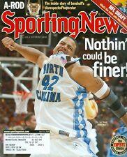 2005 Sporting News Magazine: Sean May Tar Heels/A-Rod/NFL Draft