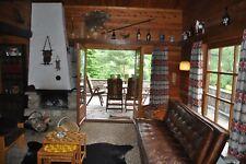 Uriges Blockhaus Ferienhaus im Harz Südhang Naturgrundstück 6 Personen mit Hund