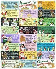 Christmas Hanging Wall Door PVC Signs Plaques Fun Novelty Santa Cats Baby Kids