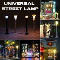 Universal DIY LED Light Lamp Post Lantern For Lego Street Building Shop Model ☍