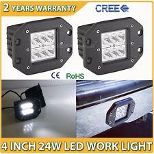 2X 24W Cree LED Work Light Spot Lamp Offroad Driving ATV Flush Mount AUTO Truck