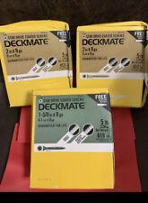 "3 Boxes (5lb EACH BOX) 15 Lbs  Of DeckMate (2  Boxes) 9g X 2"" & (1Box) 1 5/8 X8g"
