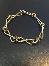 Authentic Tiffany & Co Infinity Link Bracelet Paloma Picasso 18k Gold Silver 925