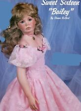 Porcelain Bisque Doll Art Works Sweet 16 Bailey by Donna Rubert Ready to Paint