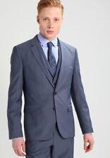 "HUGO BOSS 3-piece Light Blue wool suit ""Aldon/Wandor/Hendrin EUR46 UK36R RRP£599"