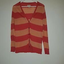 Levi's striped button up cardigan uk size 12 sweater