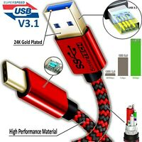 (Type-C to USB) Super Speed USB 3.1 Data & Sync Charger Charging Cable Cord lot