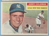 1956 Topps #316 Jerry Coleman EX-MT gray back New York Yankees