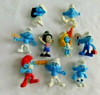 2011- 2013 MCDONALDS Smurfs Figures  SET LOT 9 TOY PEYO SMURF MOVIE SMURFETTE