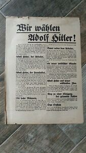 orig FLUGBLATT 1932 Nationalsozialisten Hitlerbewegung SELTEN Weimarer Republik