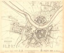 DRESDEN. Antique town city map plan. SDUK 1848 old chart