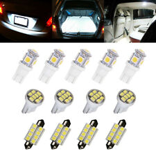 13x 6000K Led Interior Lights Bulbs Kit Dome License Plate Lamps Car Accessories