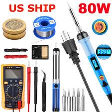 Soldering Iron Kit Welding Tool Gun Set Solder Station Tip Cleaner Tweezer Wire