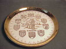 "VINTAGE CANADA SOUVENIR PLATE - 22K CREST O GOLD SABIN 7 1/4"" PORCELAIN PLATE"