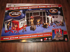 RARE WWE Backstage Brawl Playset NEW! SEALED! Mattel Elite Fan Central Wrestling