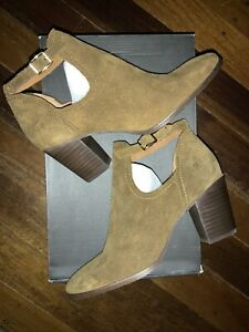 Frye Meghan Cut Out Bootie Heels Womens Suede Leather Ankle & Booties
