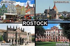 SOUVENIR FRIDGE MAGNET of ROSTOCK GERMANY
