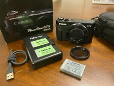 Canon PowerShot G7 X Mark II Camera - In Box Great Condition with Extras***