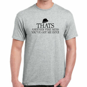 Thats Another Fine Mess - T-Shirt  | Slogan Funny Television Laurel and Hardy