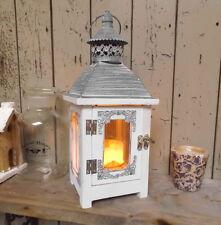 Lanterne shabby Lampe de jardin ancien style maison de campagne métal bois