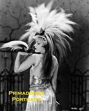 "GLORIA SWANSON 8X10 Lab Photo B&W 1922 RARE Headdress Bird ""Her Gilded Cage"""