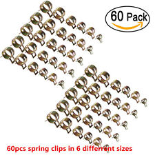60pcs Car Spring Clip Fuel Oil Water Hose Pipe Tube Clamp Fastener 7-17mm 6Sizes