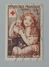 France 1954 1007 YT 1007 oblitéré croix rouge