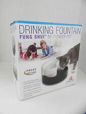 Pioneer Pet Plastic Drinking Fountain Fung Shui DOG CAT YIN YANG Black/White