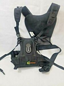 Cotton Carrier Camera black Harness clean Adjustable Nylon Mesh Straps