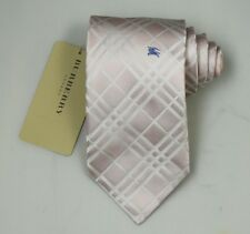 """NEW Burberry PINK Plaids Mans 100% Silk Tie Authentic Italy Made 3.5"""" 035097"""
