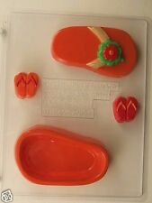 FLIP FLOP POUR BOX CLEAR PLASTIC CHOCOLATE CANDY MOLD OVR029