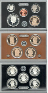 FROSTY CAMEOed 2012-S 14 Pc SILVER PROOF SET ORI BOX WITH ALL KEY COINS & PAPERS