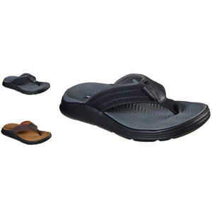 Mens Skechers Relaxed Fit Sargo Reyon Comfy Flip Flops All Sizes