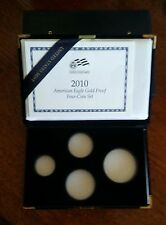 """2010-W American Gold Proof (4-pc Mint Packaging) """"NO COINS"""""""