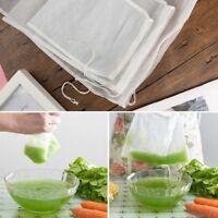 Nut Milk Cold Brew Coffee Juice Reusable Nylon Mesh Strainer Filter Bag Lark0907
