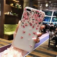 For iPhone XS 8 6 7 Plus 3D Cute Rubber Soft Silicone Pattern Flower Case Cover