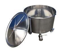 Edelstahlbehälter 233 Liter auf Rollen mit Deckel Behälter Tank Edelstahl Kessel