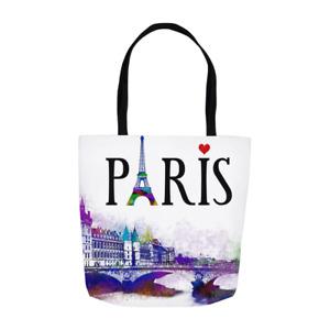 Tote bag, Paris Tote bag, All-over print, Design 177 France digital art LDumas