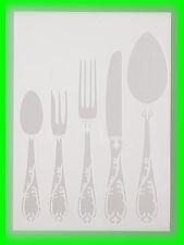 Stencil / Flex- Schablone - Besteck - DIN A4 / 5 teilig - Scrapbooking