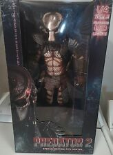 NECA 1/4 Scale City Hunter Predator 2 Figure w/ LED Lights On Mask *NEW VERSION*