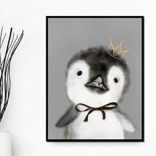 Nordic Style Frameless Decorative Painting Penguin Cute Little Animals Decor