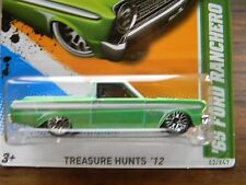 '65 FORD RANCHERO-HOT WHEELS 2012 -TREASURE HUNT-VHTF~RARE~REGULAR~ T~VHTF