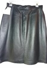 NEW Liz Claiborne Women's Skirt Size 10 Liz Wear 100% Leather Black Retail $190