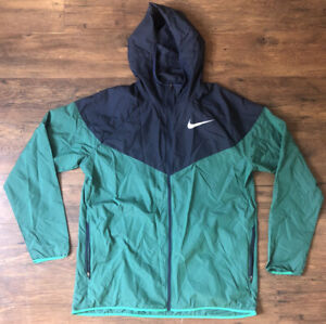 Nike Men's Windrunner in Green/Navy Full-Zip Running Jacket Size Large AR0257