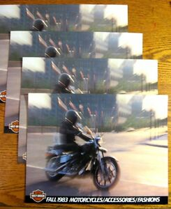 Lot (4) 1983 1984 Harley Davidson Motorcycle & Accessories Brochure Sportster