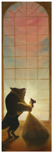 Disney Fine Art Limited Edition Canvas Rising In The East-Beauty + Beast-Rob Kaz